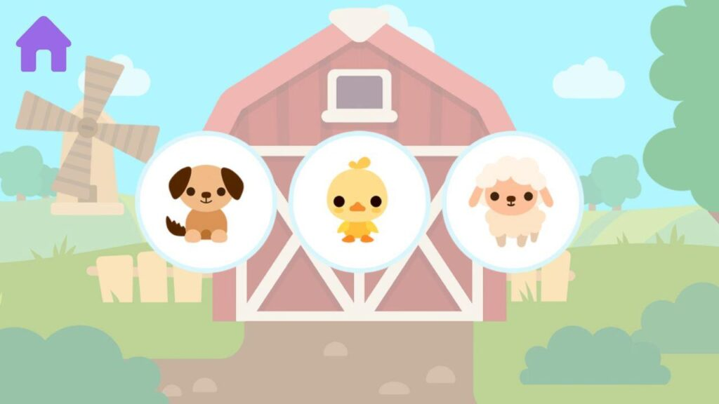kids apps for Android: farm animals